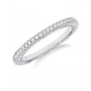 2.90 Carats round cut diamonds wedding band